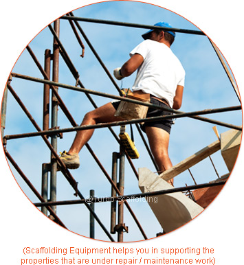Scaffolding Equipments helps you in supporting the properties that are repair / maintenance work