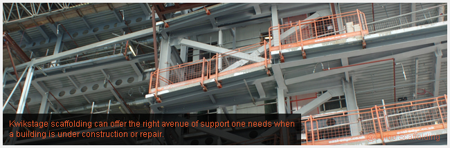 Kwikstage scaffolding can offer the right avenue of support one needs when a building is under construction or repair