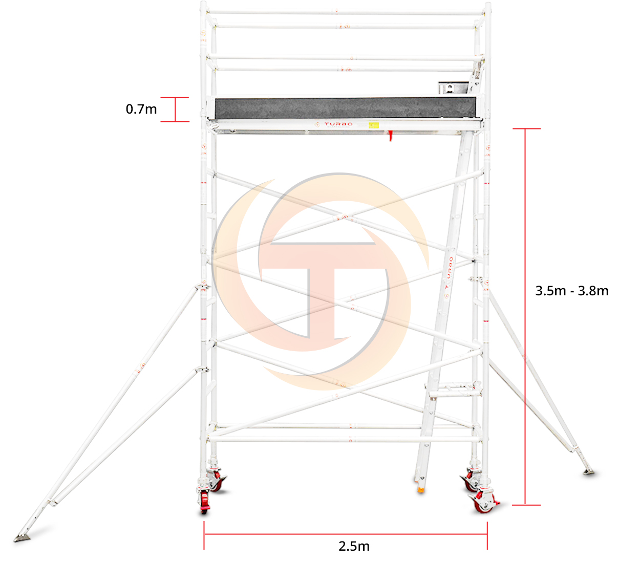 3.5m – 3.8m Narrow Mobile Tower (Standing Height)