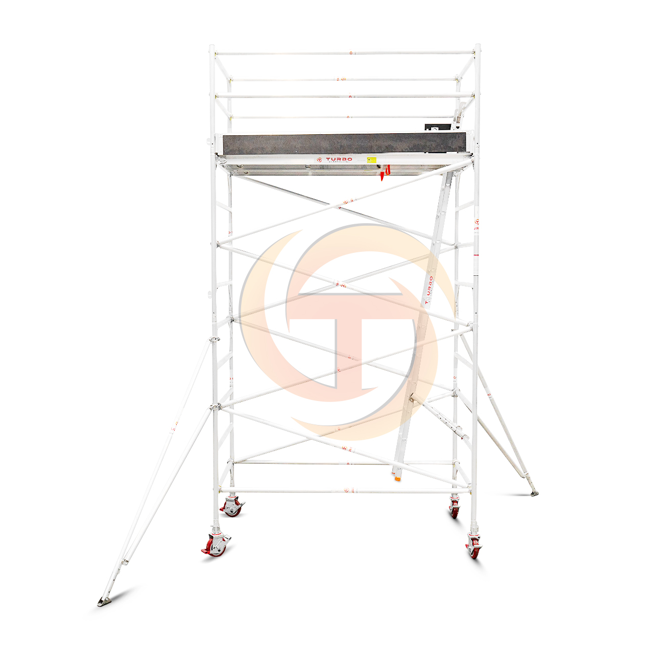 3.9m – 4.2m Wide Aluminium Mobile Scaffold Tower (Standing Height)