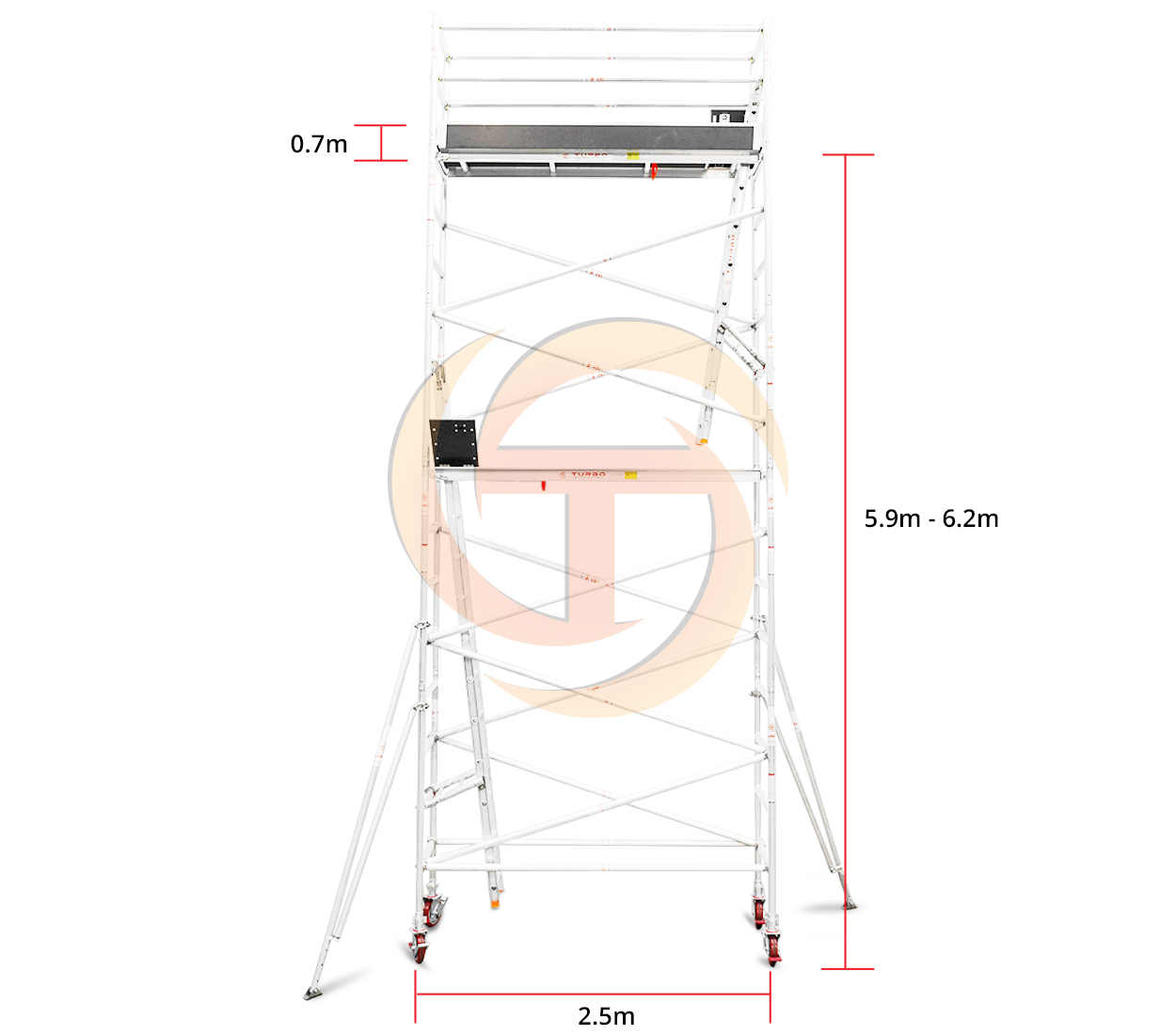 5.9m – 6.2m Narrow Mobile Tower (Standing Height)