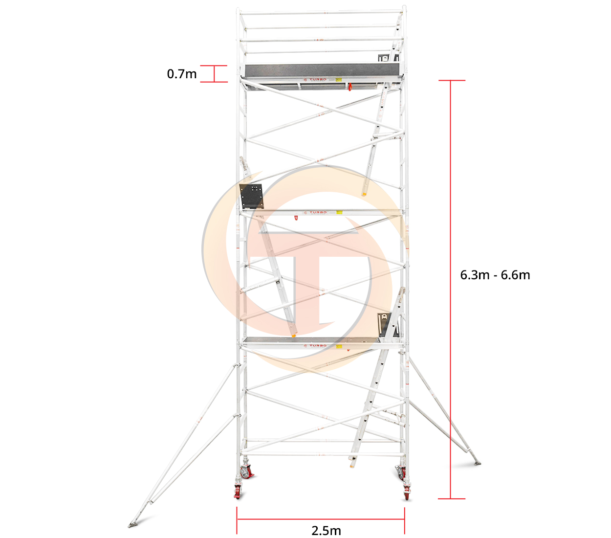 6.3m – 6.6m Narrow Mobile Tower (Standing Height)