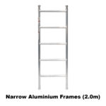 3.9m – 4.2m Narrow Aluminium Mobile Scaffold Tower (Standing Height)