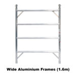 5.1m – 5.4m Wide Aluminium Mobile Scaffold Tower (Standing Height)