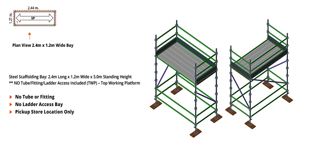 Kwikstage Scaffolding Package - 2.4M X 1.2M X 3.0M – ONE DECK