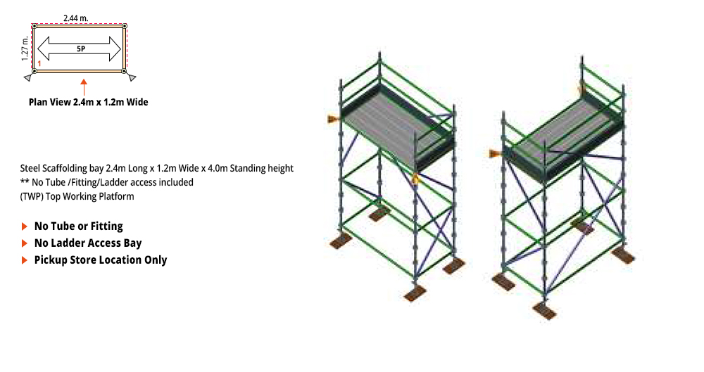 Kwikstage Scaffolding Package - 2.4M X 1.2M X 4.0M – ONE DECK
