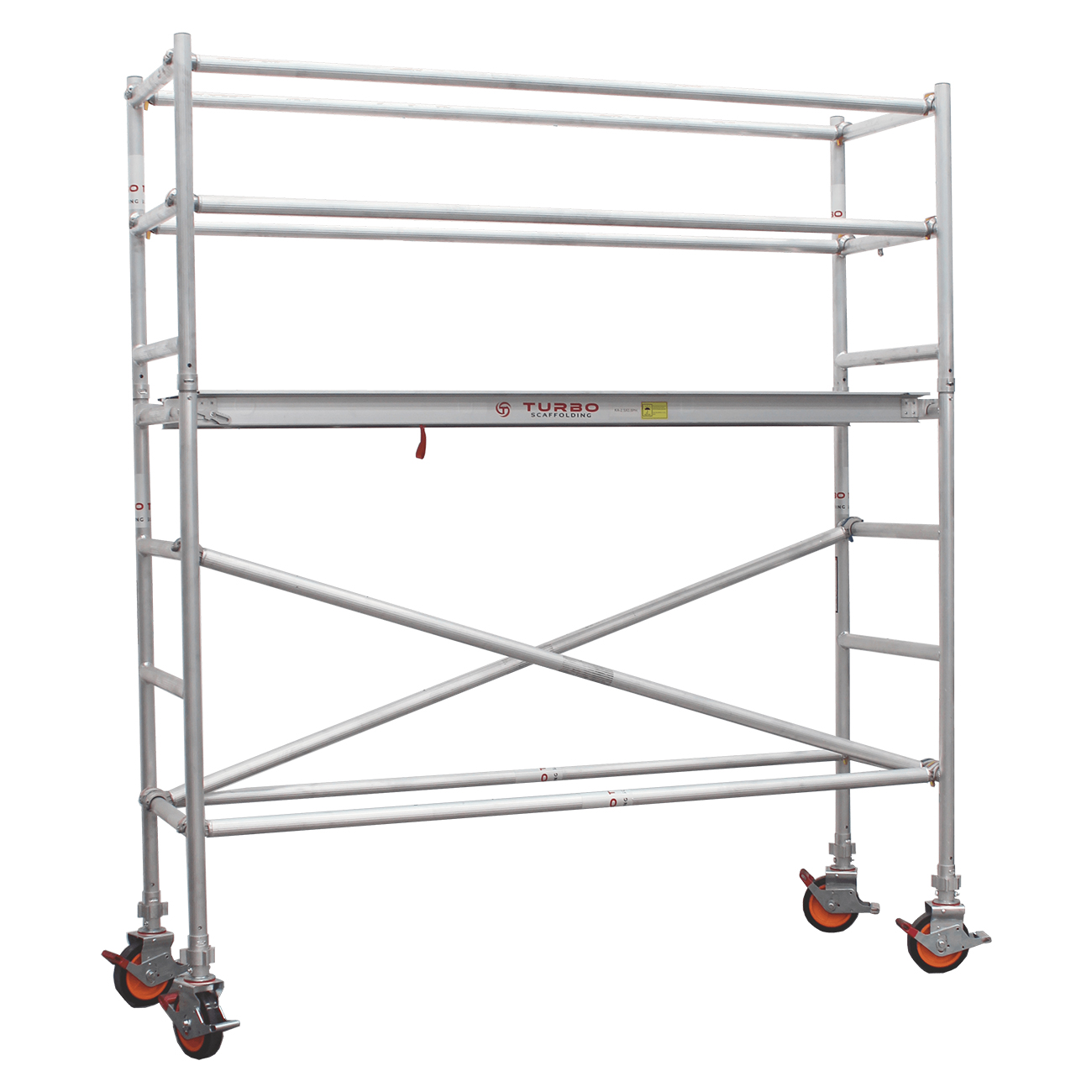 1.9m – 2.2m Narrow Aluminium Mobile Scaffold Tower (Standing Height)