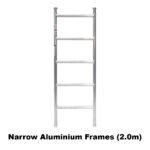 2.3m – 2.6m Narrow Aluminium Mobile Scaffold Tower (Standing Height)