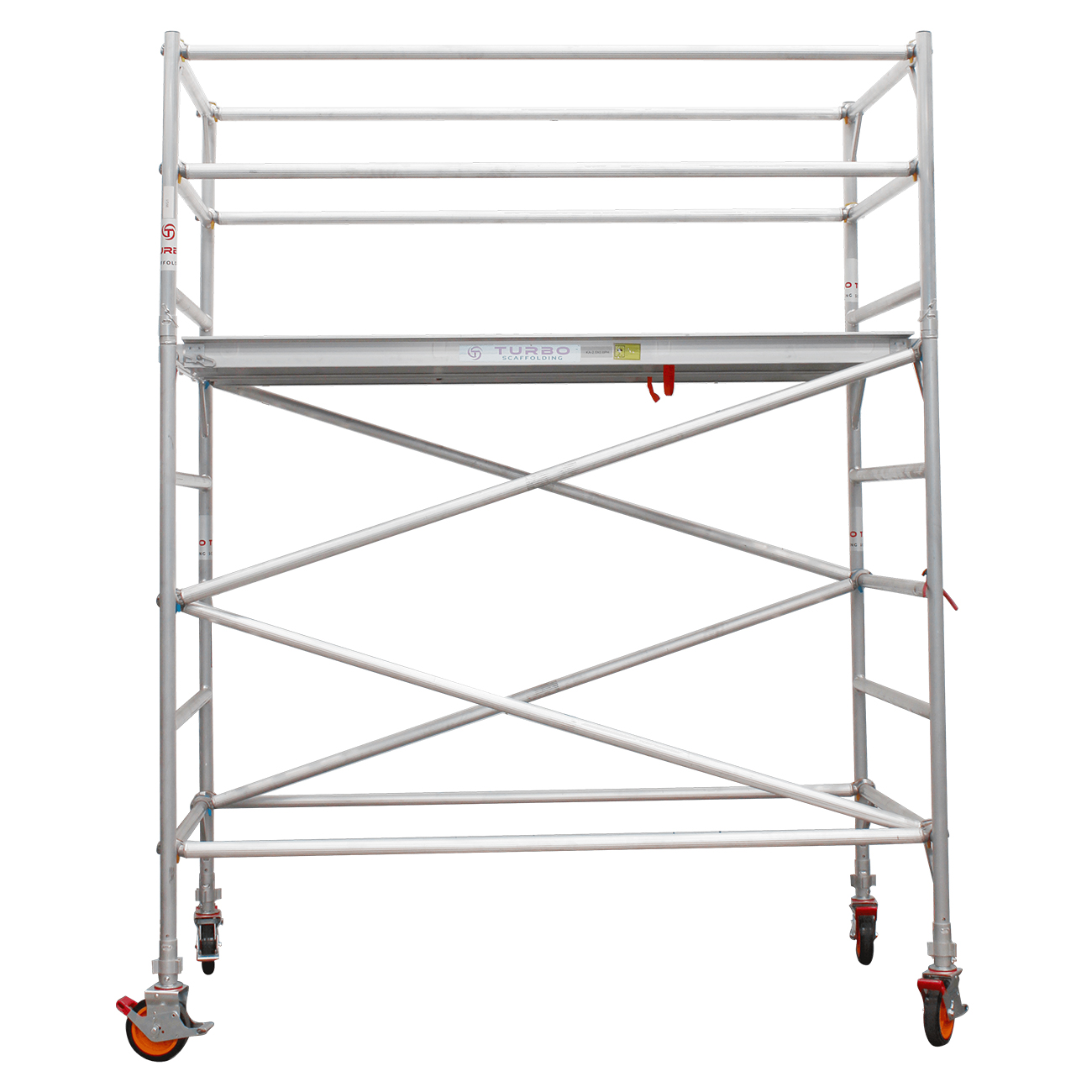 2.3m – 2.6m Wide Aluminium Mobile Scaffold Tower (Standing Height)